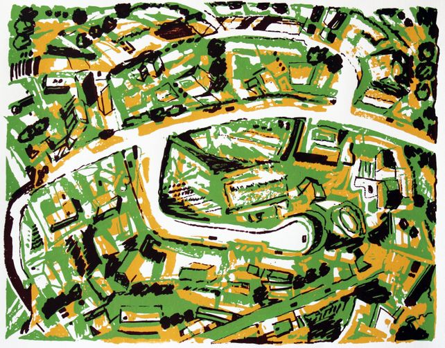 Suburb with Roads