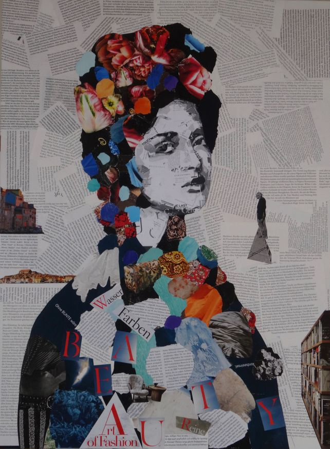 Woman portrait collage