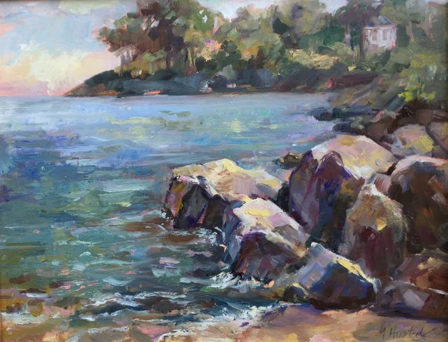 Original Oil By the Water