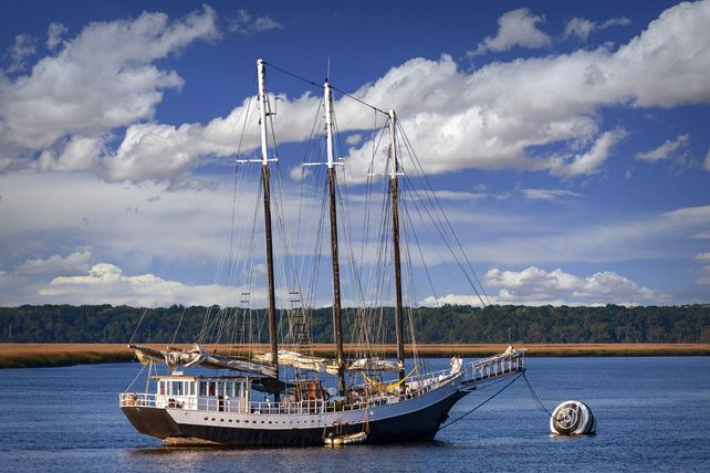 Anchored Schooner