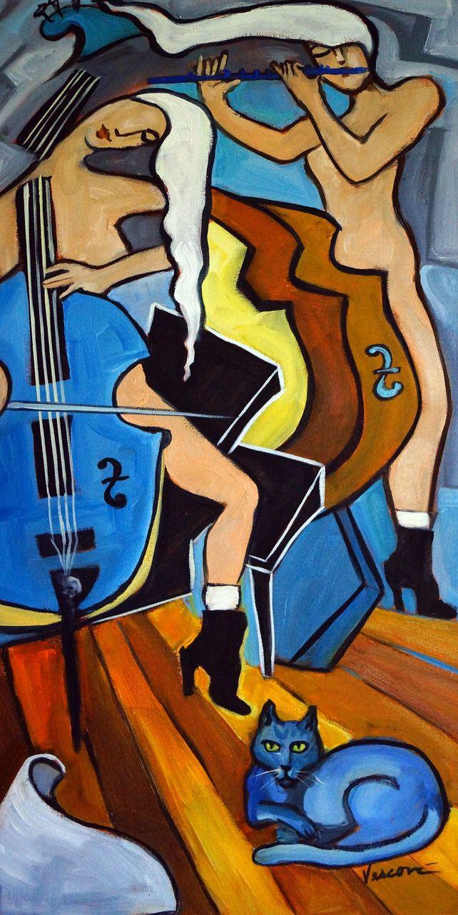 Cello, Flute, Cat