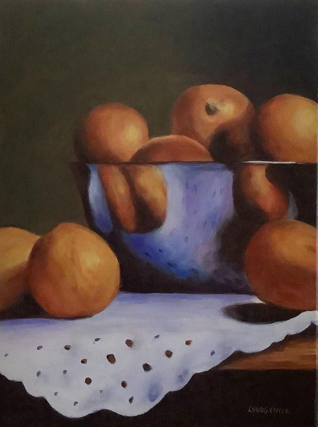 Oranges and Bowl