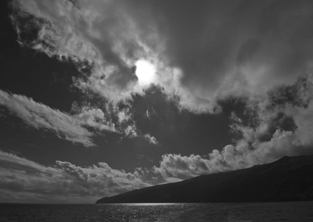Guadalupe Island Black and white afternoon  CANVAS
