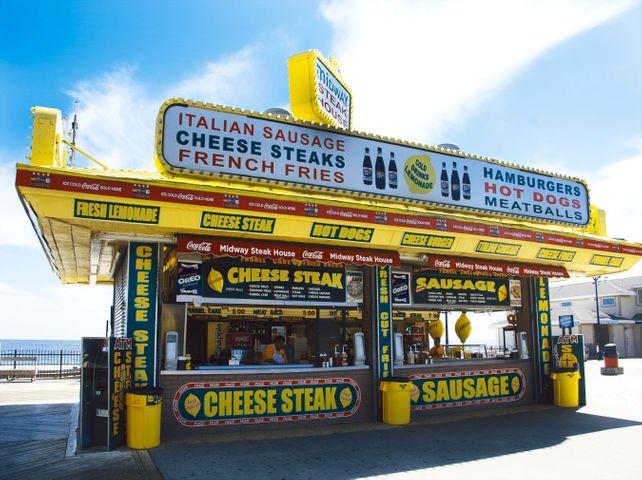 Jersey Shore Hotdogs New Jersey Beach Boardwalk