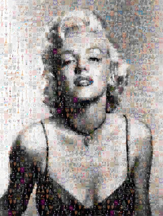 Marilyn Monroe Large Photo Collage by Verlangieri