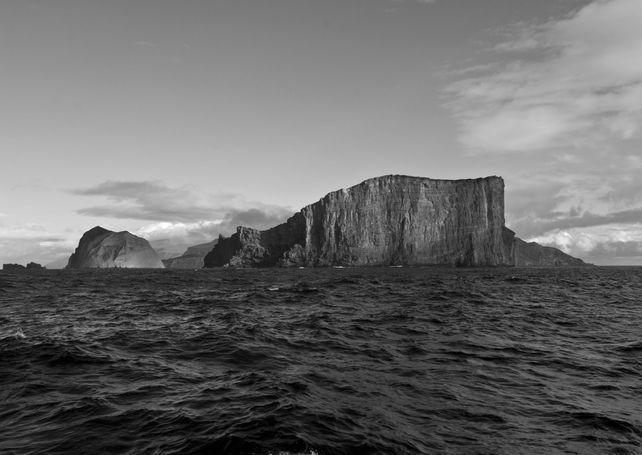 Guadalupe Island Black & white vista