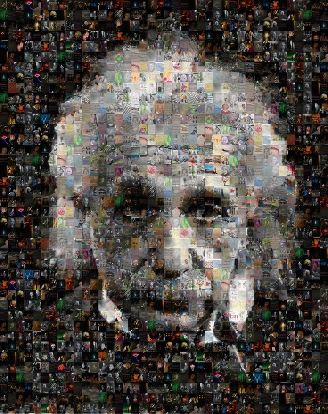 Albert Einstein Photo Collage