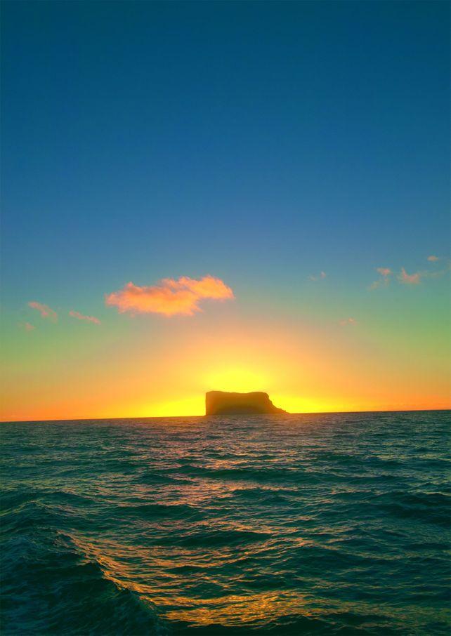 Guadalupe Island Morning Glow Baja Mexico