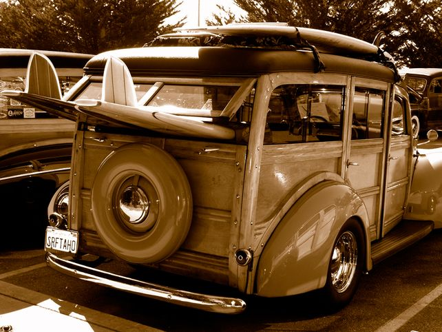 Woody Surf Wagon  Fine Art Photo Surfing