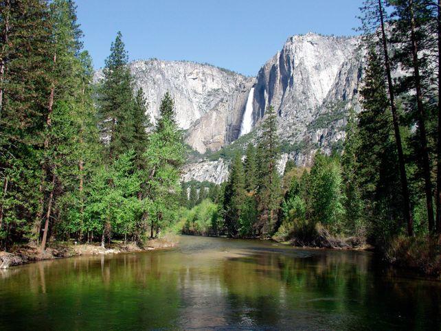 Yosemite Valley Falls  Art Photo National Parks