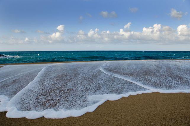 High Tide Hawaiian Beach  Art Photograph Hawaii