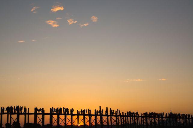 Sunset Silhouette Myanmar Style