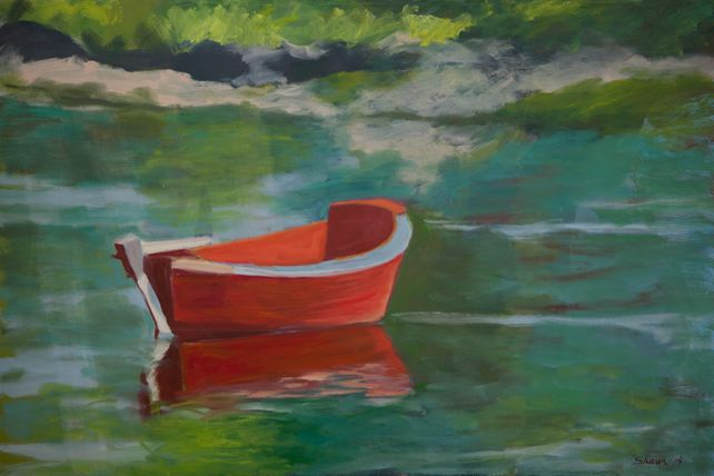 Red Boat Moored
