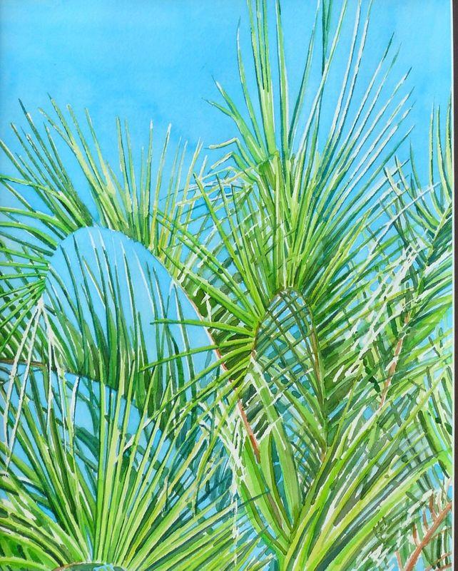 Palms and Blue Sky