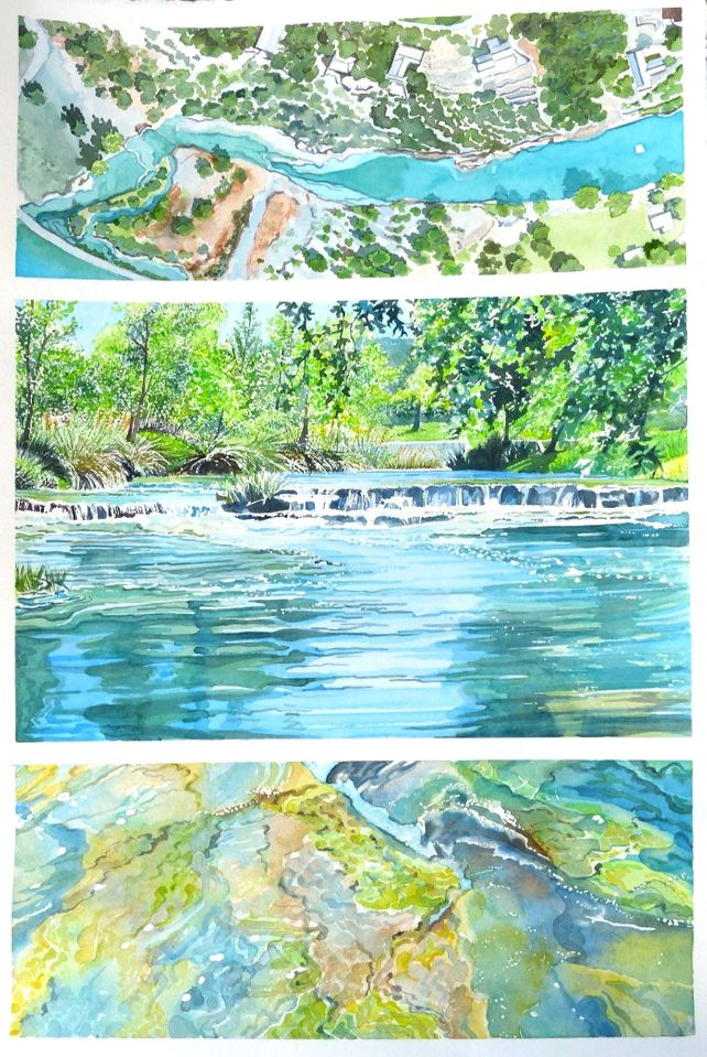 Guadalupe River Tryptich