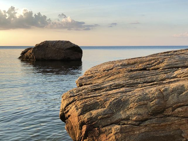 Sea Rocks at Sundown