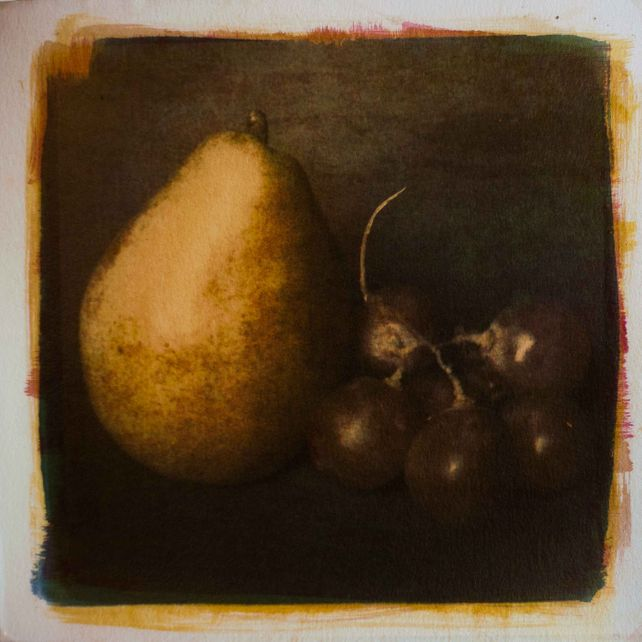 Pear and Grapes