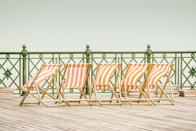 Deckchairs on the Pier