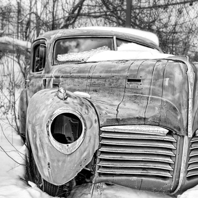 Old Hudson in the Snow
