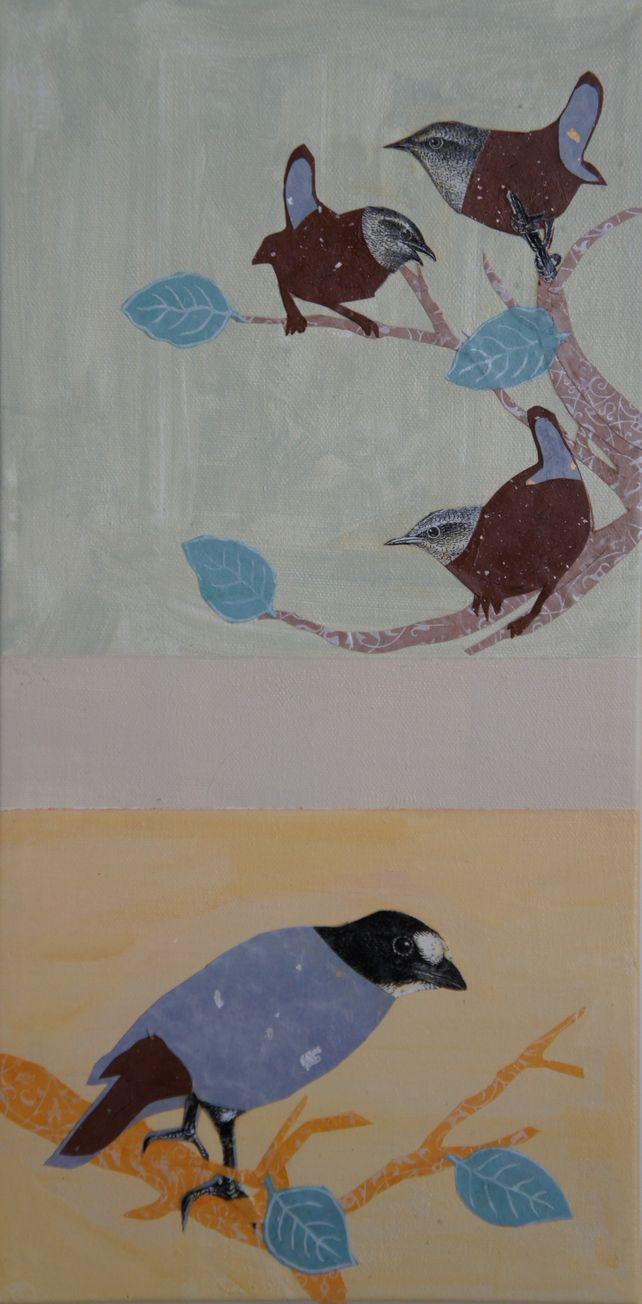 3 Wrens and a Blackbird