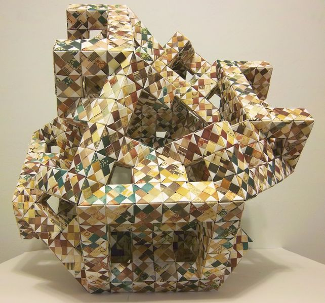 Origami Cubic Consumption of Space