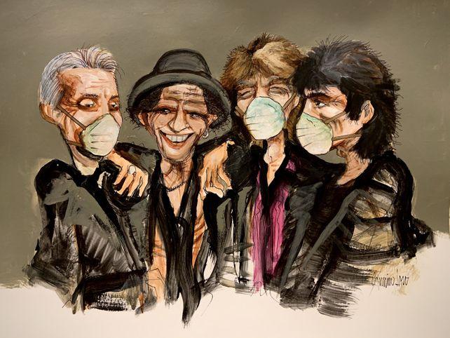 Rolling Stones Original Art by Sergio Lazo