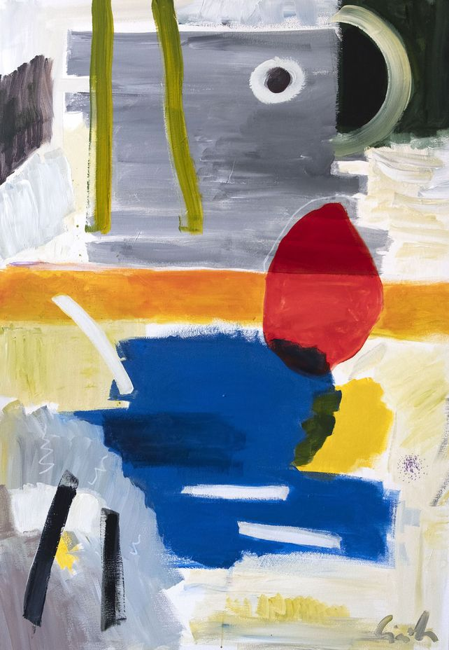 Abstract composition, fomr and expressive  color 7