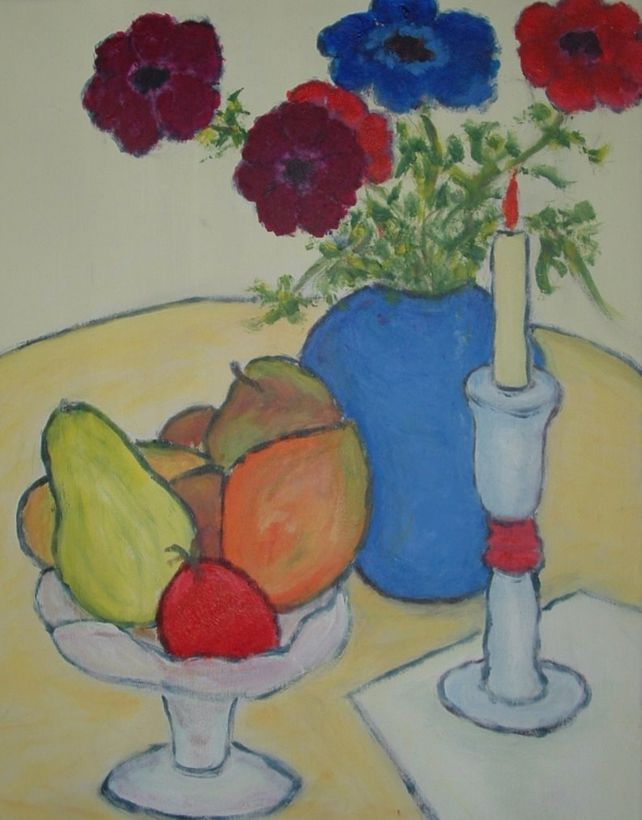 Tropical Fruit, Flowers and candle