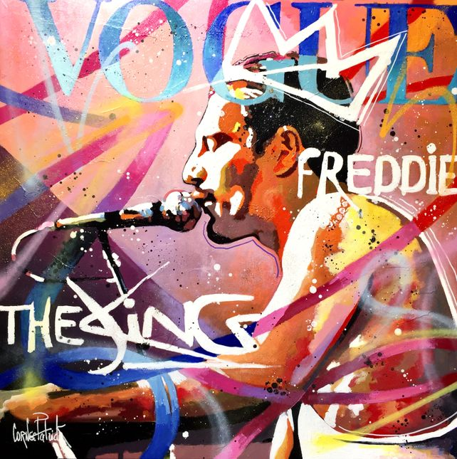 Freddie Mercury vogue, the king, pink version