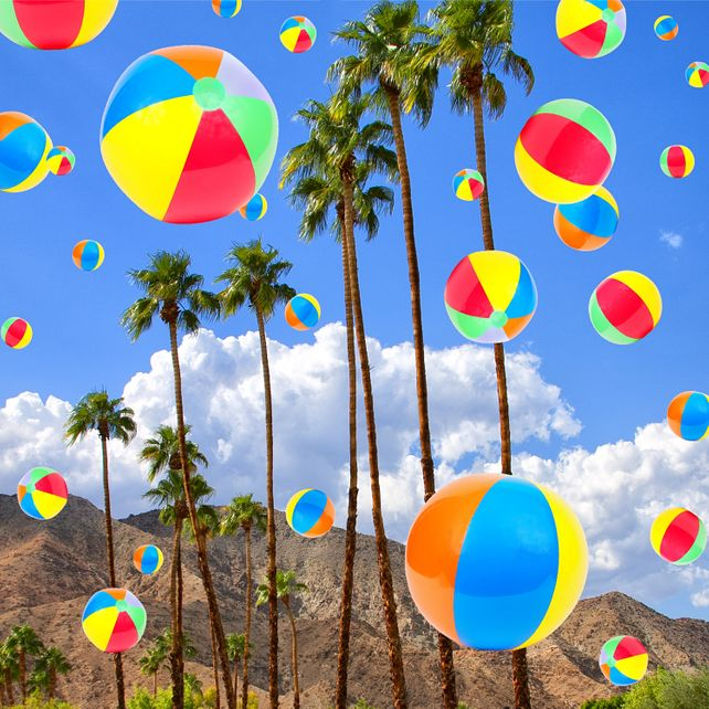 SUNNY AND BEACH BALLS Palm Springs