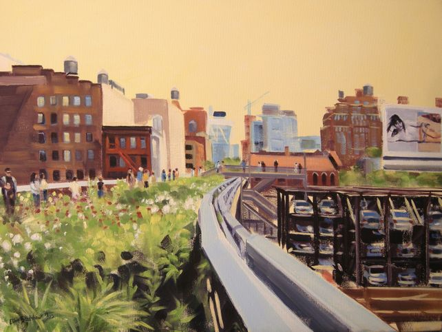Walking the High Line in June