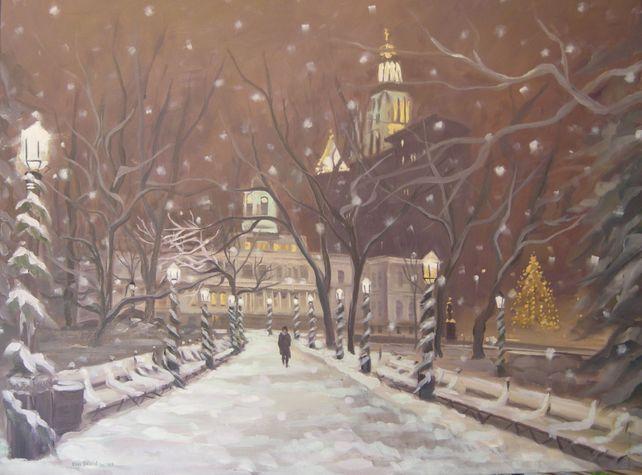 December Snow, City Hall