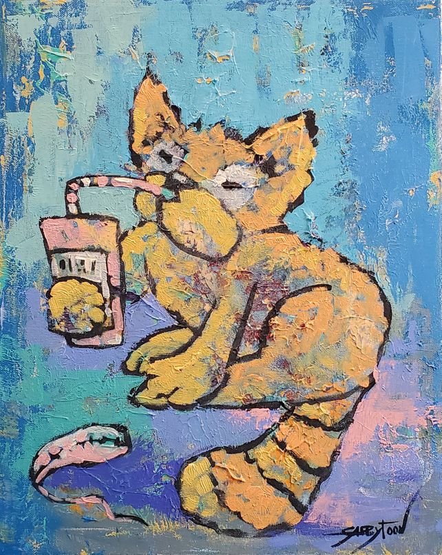 Cat With Soda