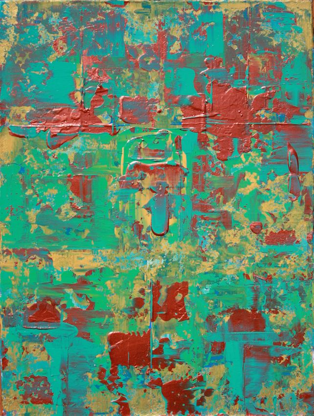 Copper Teal Aqua Abstract Concept