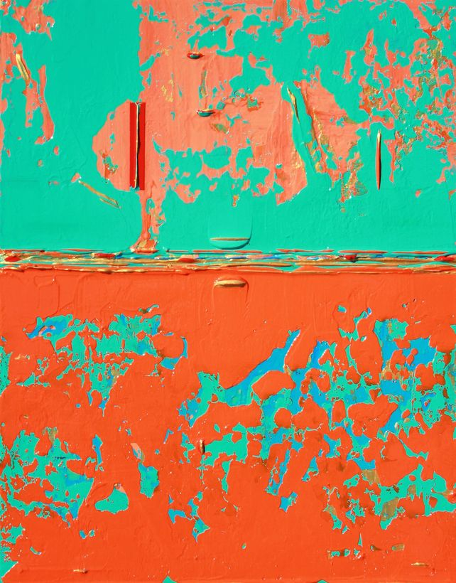 Bright Aqua Green Orange Contrasts