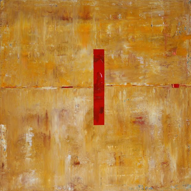Abstract Concept Red Copper Line