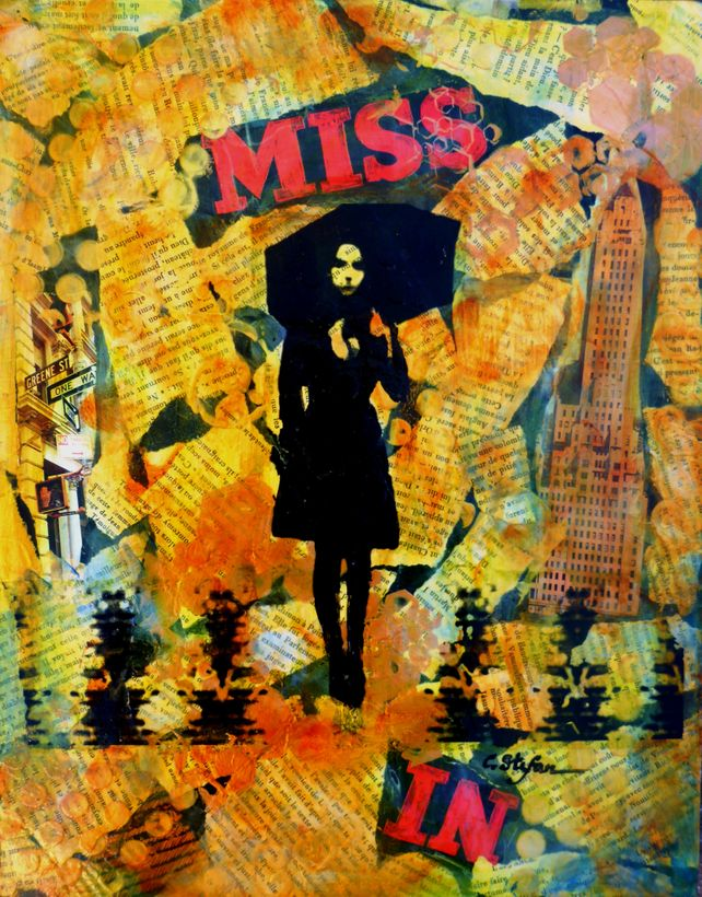 New York - Woman with Umbrella
