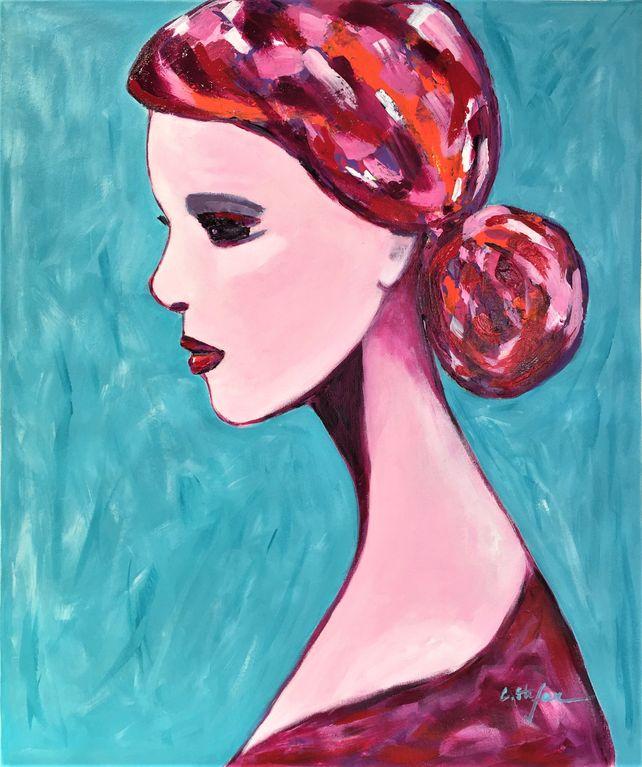 Woman portrait, Sophie Pensive