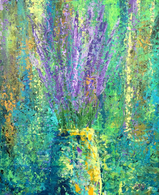 Lavender in Yellow Vase
