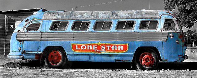 lone star bus - blue
