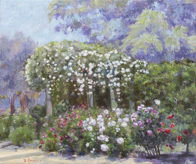 Roses In A California Garden