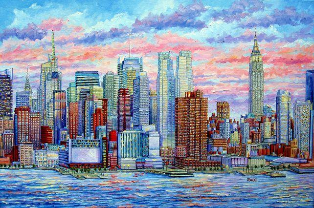 New York City - Manhattan Skyline - Big Apple