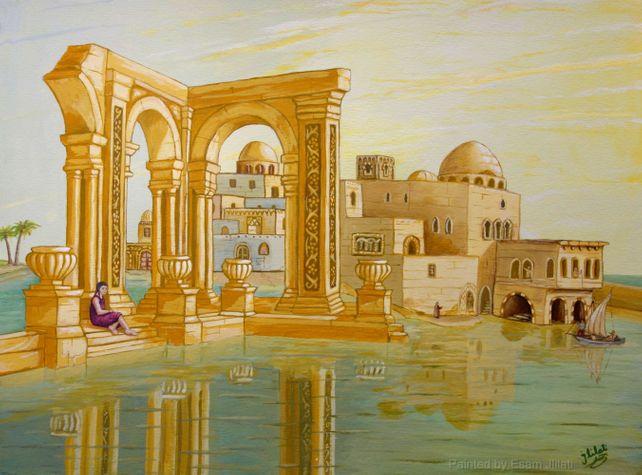 Mediterranean Dream seascape Surrealism Modern Art
