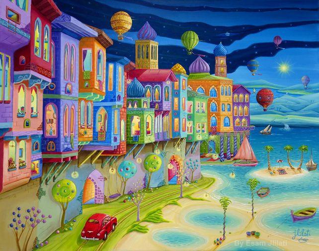 Original oil painting, Joyful Journey