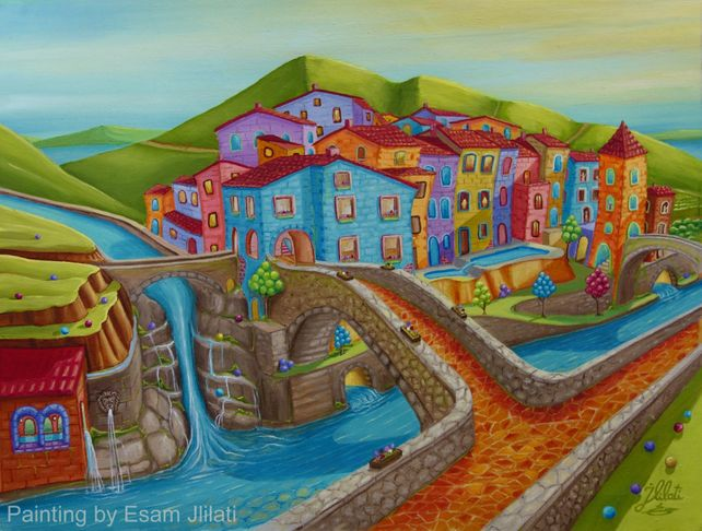 Tuscany Village, Italian landscape
