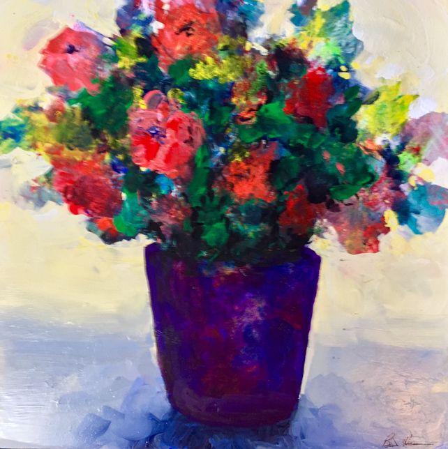 Purple Vase Floral