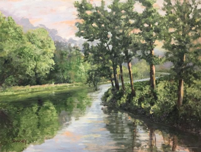 Country River by the Mill