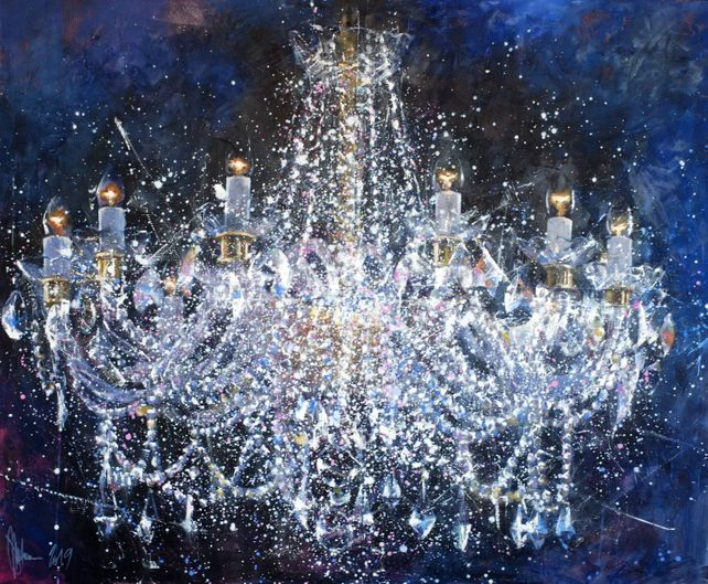 Chandelier #6. Christmas.  The latest edition.