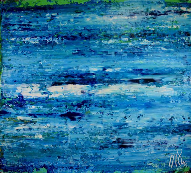 Blue satin ocean