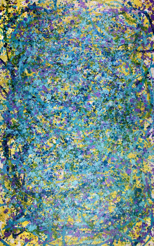 Shimmering Garden (In teal and purple)